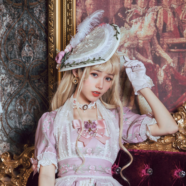The Poem of Roses ~ Classical Lolita Bonnet by Miss Point ~Pre-order
