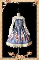 Sweet Cinderella Printed Lolita Mini JSK Dress Casual Short Dress by Infanta
