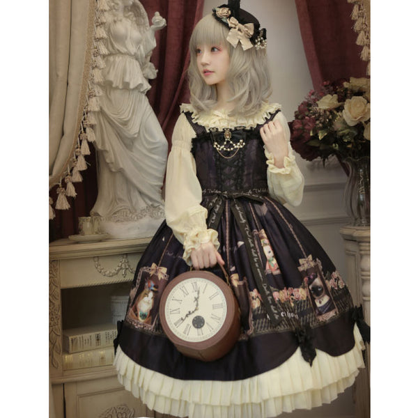Earl Cat ~ Sweet Printed Lolita JSK by Honey Honey