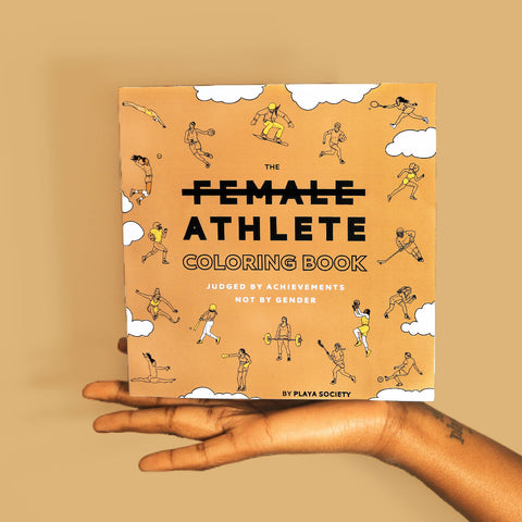 The Playa Society Female Athlete Coloring Book