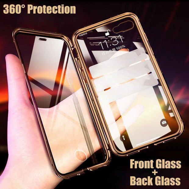 Magnetic Transparent Phone Case For iPhone