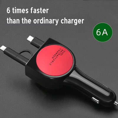 Three-In-One Data Cable Charger For IOS/Android/Type-C