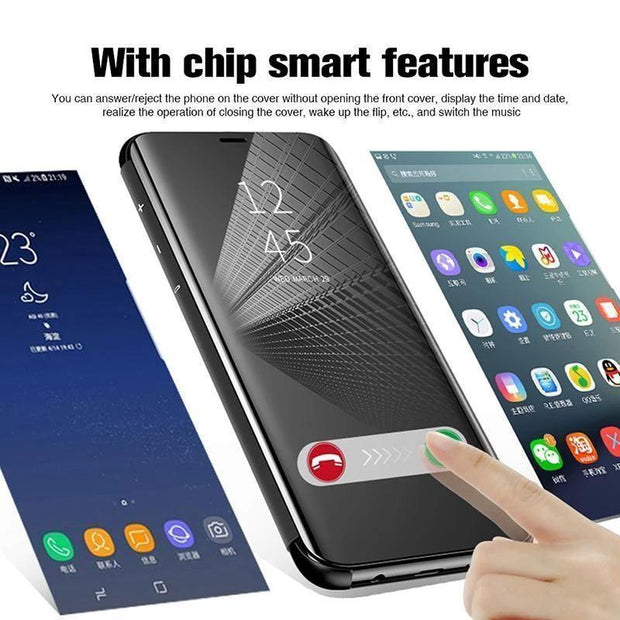 Flip Protection Full Screen Window Cases For Samsung