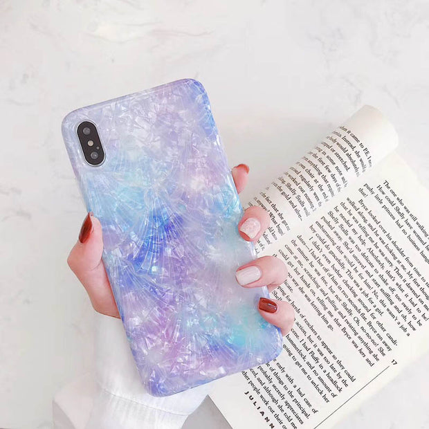Gradient Abalone Shell Phone Case For iPhone
