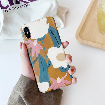 Retro Painted Flower Protective Phone Case For Huawei