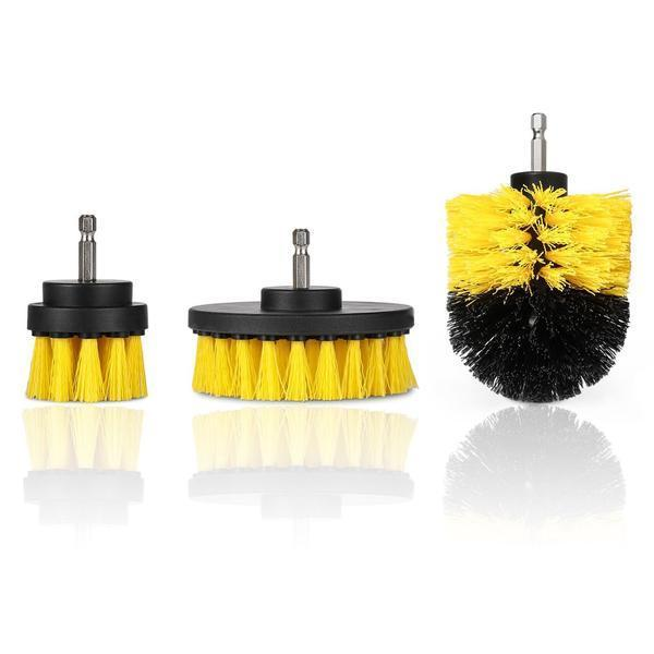 Power Scrubber Brush (3 Piece Set) - Nextelect
