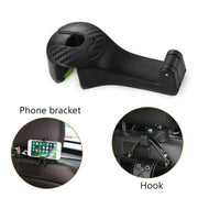 Carpus - 2 in 1 Multi-functional Car Headrest Hook (2 PCS) - Nextelect
