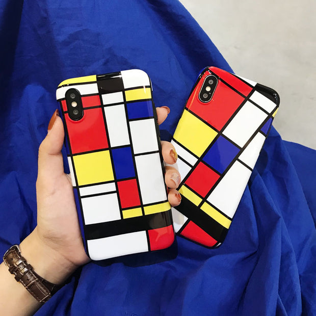 Funny Geometric Pattern Phone Case For iPhone