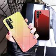 Tempered Glass Gradient Phone Case For Huawei