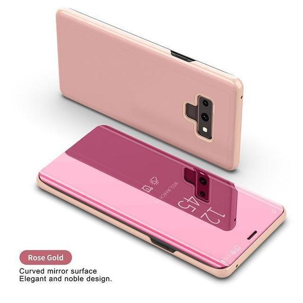 Mirror Phone Case With Kickstand And Flip Cover For Samsung