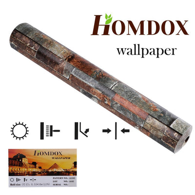 Homdox 3D Stone Tile  Wallpaper - Nextelect