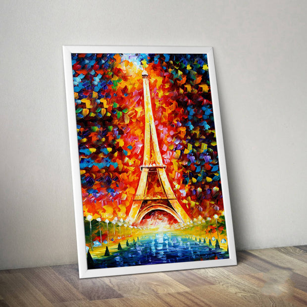 Eiffel Tower Frameless Wall Decoration Painting