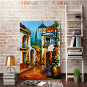 Town House Frameless Wall Decoration Painting