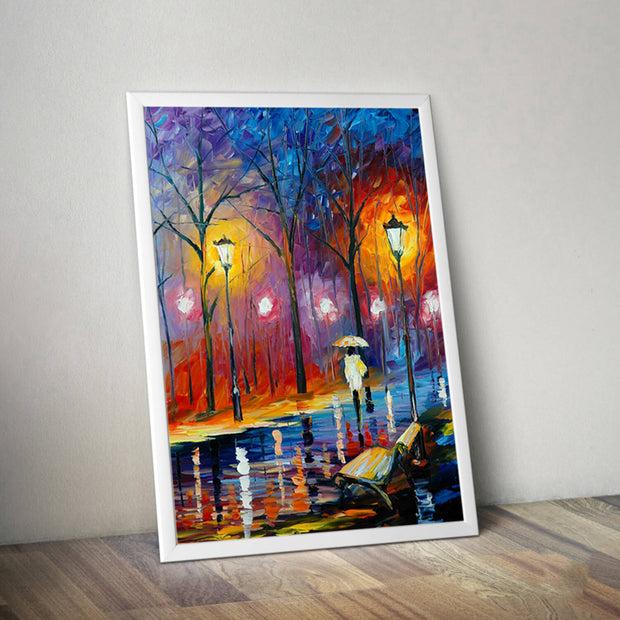 Street Light Frameless Wall Decoration Painting