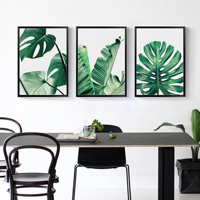 3 Pcs Banana Leaf Frameless Wall Decoration Painting