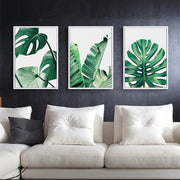 3 Pcs Tree Frameless Wall Decoration Painting