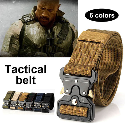 Zinc Alloy Buckle Tactical Belt - Nextelect