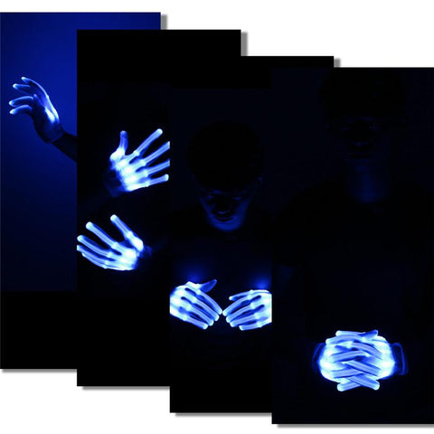 Flashing Skeleton Gloves