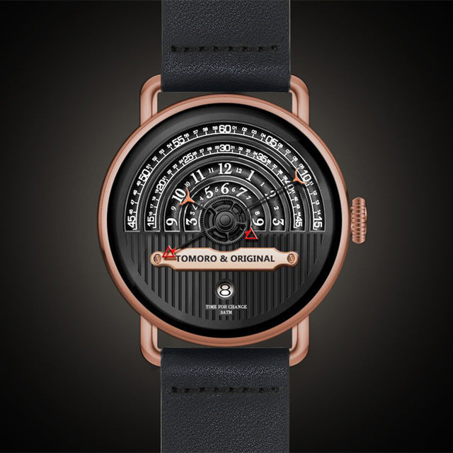 Unique Leather Hemicycle Watch