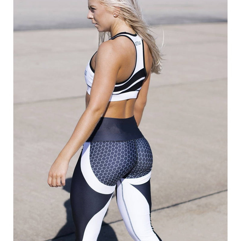 Honeycomb Printed Workout Leggings