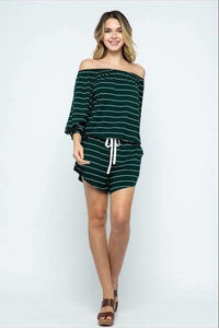 Lucy-Loo Striped Romper