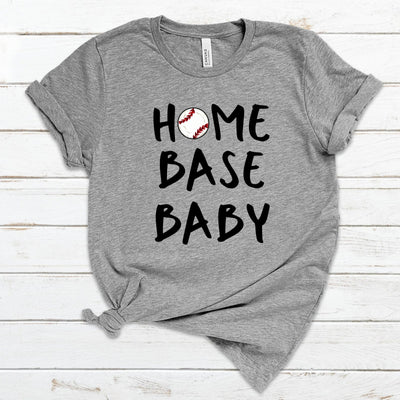 S - Home Base Baby (Baseball) - Athletic Heather