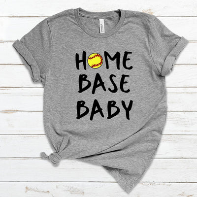 S - Home Base Baby (Softball) - Athletic Heather