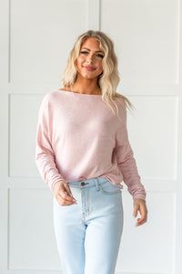 What A Beauty Drop Shoulder Top- Pink