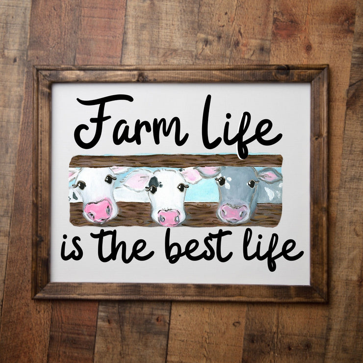 S - Farm Life Is Best Life (Cows) Canvas