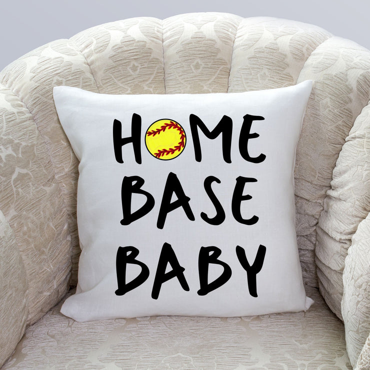 S - Home Base Baby (Softball) Pillow Cover