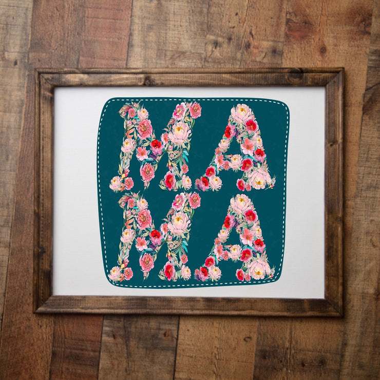 S - Floral Mama Canvas