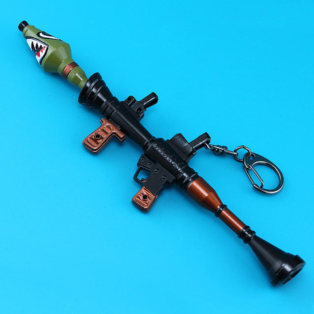 Fortnite Rocket Launcher Metal Keychain