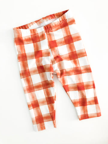 Orange Plaid Legging