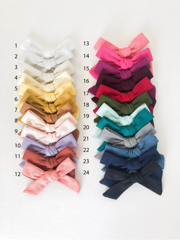 Small Schoolgirl Bows - Solids