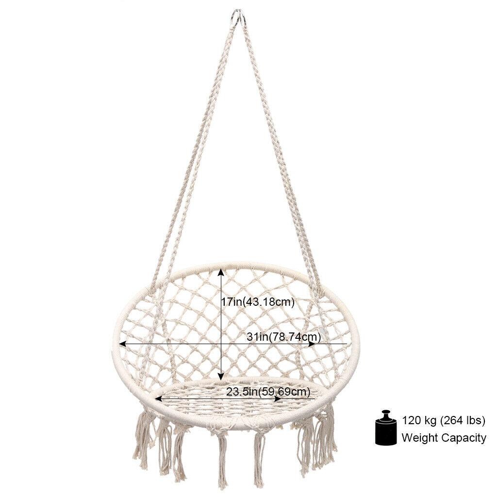 Modern Hanging  Indoor or Outdoor Nordic Style Handmade Cotton Hanging Chair - Mystical Voyager