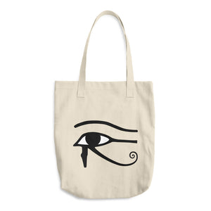 Eye of Horus Cotton Tote Bag - Mystical Voyager
