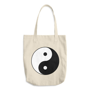 Ying Yang Cotton Tote Bag - Mystical Voyager