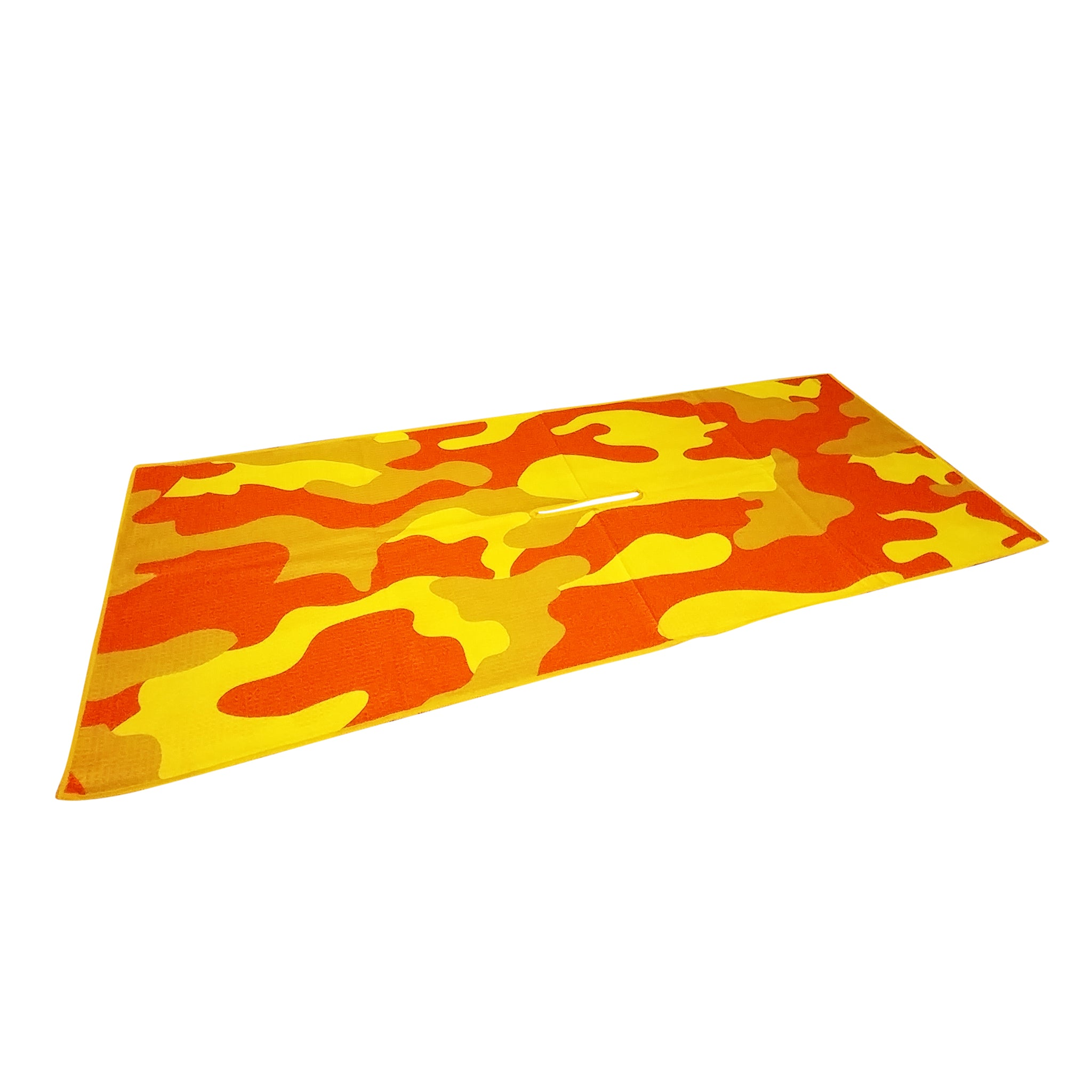 Rpg Center Cut Microfiber Golf Towel Waffle Weave Orange Red For Ball Planet