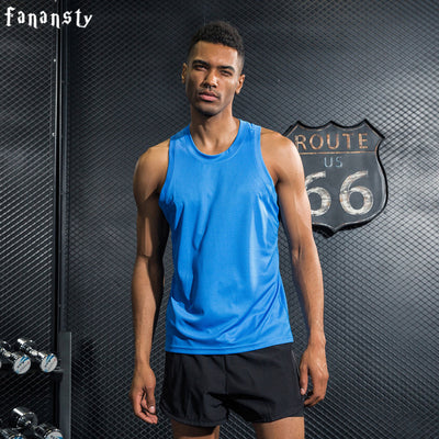 Mens Quick Dry Sports Fitness Gym Tank Top Shirt