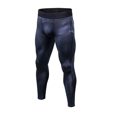 Mens Sports Fitness Gym Running Pants Compression Tights Quick Dry