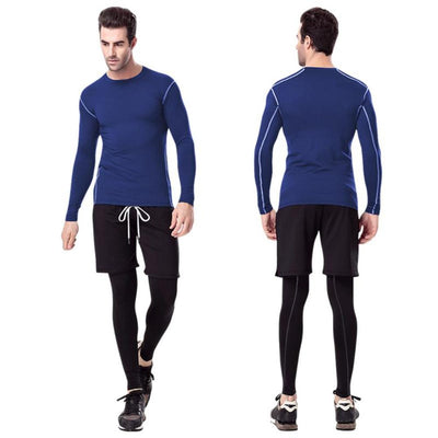 Mens Quick Dry Compression Long Sleeve Sports Gym Fitness Gym Shirt