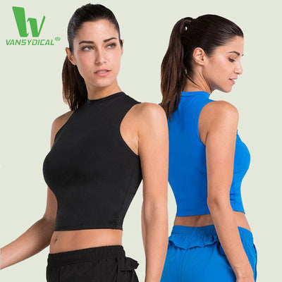 Womens Sportswear Yoga Pilates Fitness Dry Fit Crop Sleeveless Top
