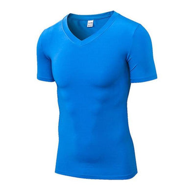 Mens Compression Quick Dry Sports Fitness Gym T Shirt