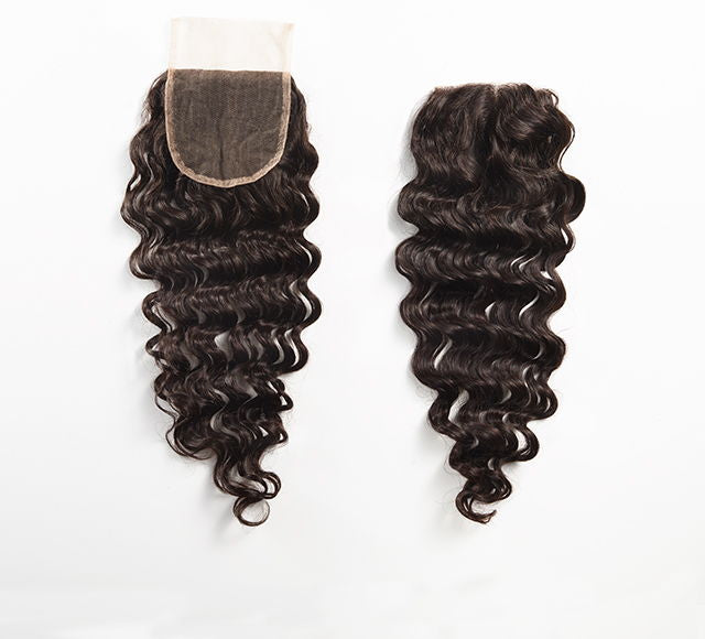 Virgin Brazilian Deep Wave Lace Closure