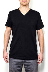 Male model v-neck fit
