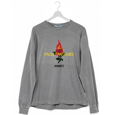 FALSE FANTASIES LONG SLEEVE WASHED CONCRETE