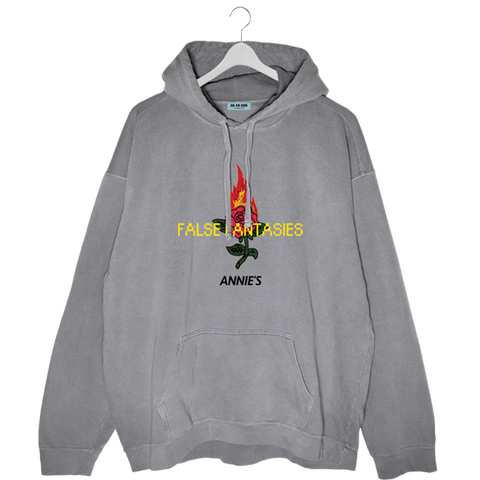 FALSE FANTASIES HOODIE WASHED CONCRETE