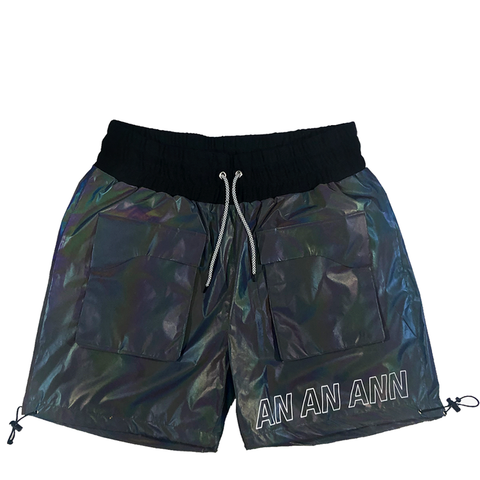IRIDESCENT CARGO SHORTS