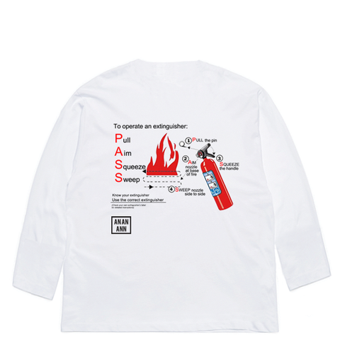 PASS LONG SLEEVE WHITE
