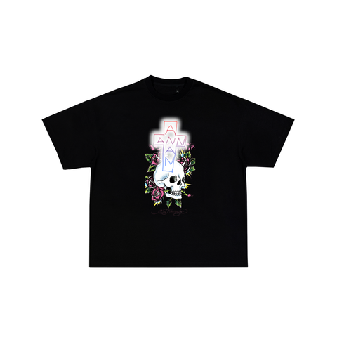 LIFE GLOWS TEE BLACK
